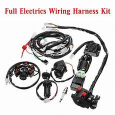 go kart gy6 wiring harness electrics wiring harness loom cdi coil for gy6 150cc atv go kart buggy sale banggood