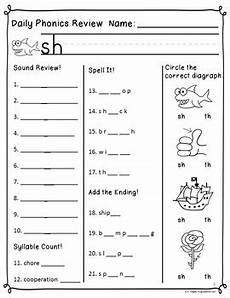 phonics worksheets 20405 daily phonics review correlated to reading for 1st grade unit 2