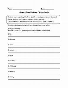 writing abstract nouns worksheet part 1 intermediate nouns worksheet abstract nouns worksheets