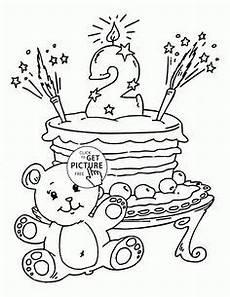 Malvorlagen Age Cake Birthday Cake Age 6 Coloring Page Coloringcom