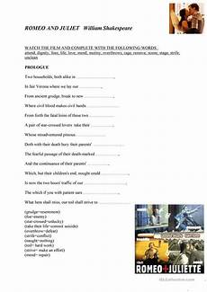 6 free esl romeo and juliet worksheets
