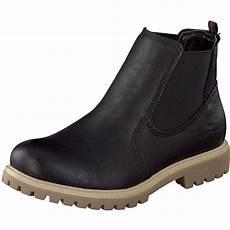 tom tailor damen chelsea boots in schwarz g 252 nstig bei
