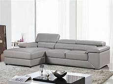 canape angle cuir gris