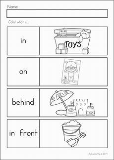 summer review kindergarten math literacy worksheets activities positional words