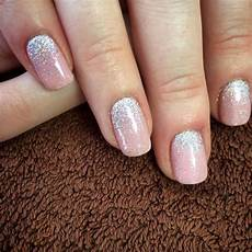 rosa nägel mit glitzer tried out our newest colour blush teddy shellac with