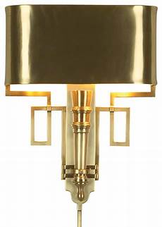global views torch sconce antique brass contemporary