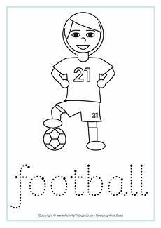 sports tracing worksheets 15881 football word tracing