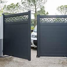 leroy merlin portail sur mesure portail battant aluminium avignon gris l 300 cm x h 164