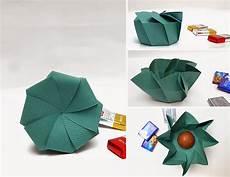 origami caja de regalo en espiral