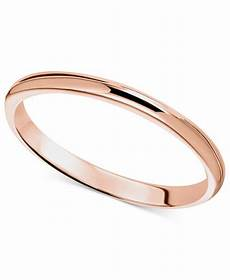 14k rose gold ring 2mm wedding band rings jewelry watches macy s