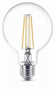 philips e27 led globe filament 7w 806lm warmweiss dimmbar