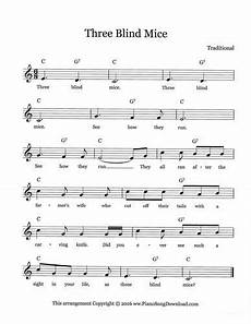 three blind mice lead sheet sheet music three blind mice