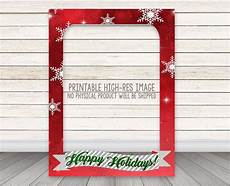 printable happy holidays photo booth frame christmas photo