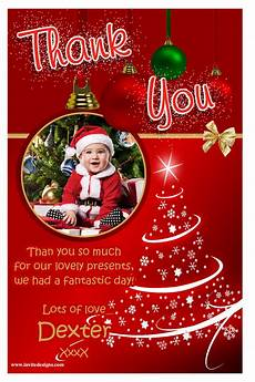 baby santa thank you card xmasblor