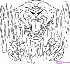 drawing flames coloring pages panthers school
