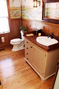 bathroom ideas oak vintage inspired bath with oak wood floor and narrow