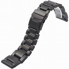 Stainless Steel Band by Black Silver Solid Stainless Steel 22 24 26 Mm Mens