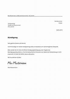 handy kündigung muster handyvertrag k 252 ndigen kostenlose muster vorlage pdf word
