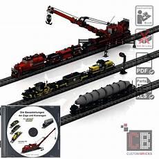 Ausmalbilder Lego Zug Cb Eigenbau Bauanleitung Zug Kran Waggon Eisenbahn