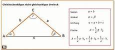 dreiecksberechnung dreieck formel berechnen