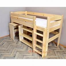 letto soppalco con scrivania letto a soppalco con scrivania e mensole 200x90 cm