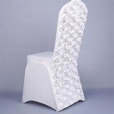 wholesale universal spandex chair covers for party banquet 3d rose gold white wedding chair