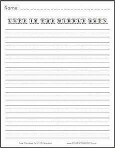 free printable handwriting worksheets for middle school students 21785 in the middle ages free printable k 3 writing prompt student handouts