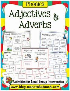 adjectives and adverbs make take teach
