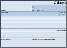 quittungsvorlage pdf
