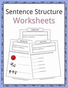 sentence structure worksheets exles definition for kids