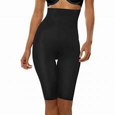 Amazon Com Women S Thigh Hanes Women S Hi Waist Thigh Shaper Tanga