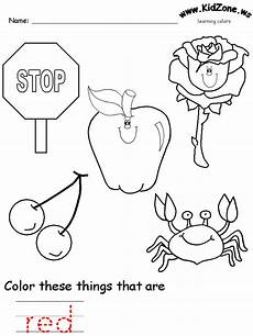colors recognition practice worksheet preschool color