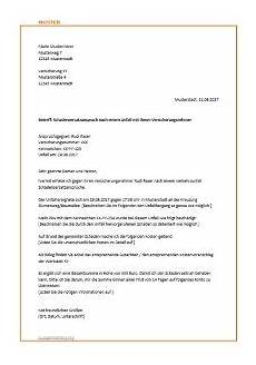 wertminderung fiktive abrechnung musterbrief f 252 r die versicherung zur schadensregulierung