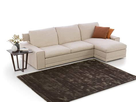 Divano Chaise Longue Rotondo : Noah Sand Fabric Chaise End Sofa