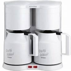 kaffeemaschine weiß mit thermoskanne severin duo doppel kaffeemaschine ka 5825 wei 223 mit 2