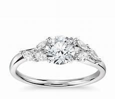 lhuillier jardin diamond engagement ring in platinum 1 4 ct tw blue nile