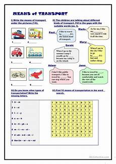 transportation worksheets esl 15184 means of transport esl worksheets for distance learning and physical classrooms