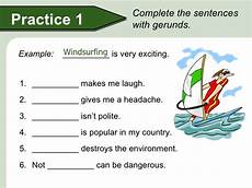 gerunds subject and object