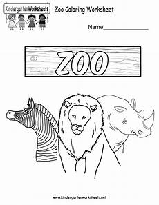 free printable zoo coloring worksheet for kindergarten