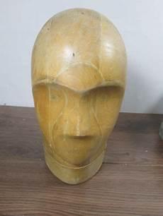 vintage millinery mannequin wooden hat block form head w face ebay hat blocks hats hat boxes