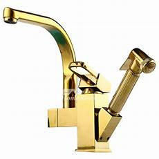 luxury kitchen faucet luxury kitchen faucets pull out spray polished brass centerset gold