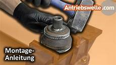 abs ring sensorring einer antriebswelle wechseln