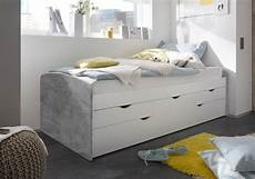 bett einzelbett bett einzelbett ausziehbett schubladenbett tandembett 90cm