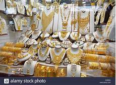 dubai gold souk market dubai united arab emirates stock