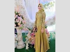 75  Model Kebaya Muslim Brokat Kombinasi Terbaru 2019