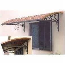 tettoie per porte copriporta coprifinestre o pensiline artistiche in ferro
