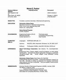 10 mechanical engineering resume templates pdf doc
