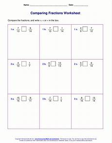 comparing fraction worksheets for grade 5 4181 free worksheets for comparing or ordering fractions