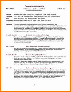 5 qualifications resumes ledger review
