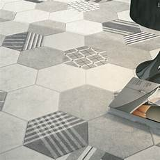 carrelage hexagonal imitation ciment mate hexatile cement